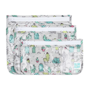CLEAR TRAVEL BAG CACTI 3PK