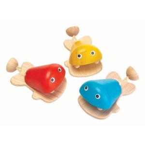 Plan Toys - καστανιέτα ψάρι