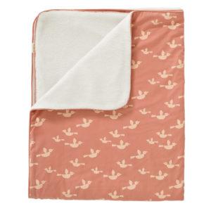 Fresk: Πλεκτή Κουβέρτα από 100%βιολογκό βαμβάκι  - birds