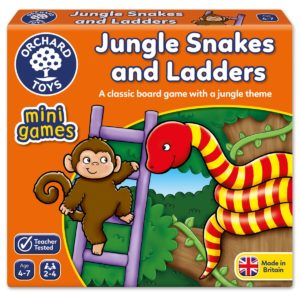"""Orchard Toys """"Ζούγκλα Φιδάκια & Σκάλες"""" (Jungle Snakes & Ladders)Mini Game"""