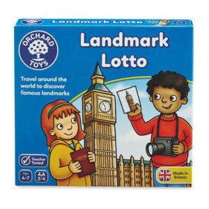 "Orchard Toys ""Λόττο - Αξιοθέατα"" (Landmark Lotto) Mini Game"