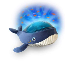 PABOBO -WHALE. Προβολέας υφασμάτινη Φάλαινα με εικόνες θαλάσσης & ήχους.