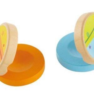 Hape Clickety-Clack Clapper  - Πολύχρωμες Μουσικές Καστανιέτες - 1Τεμ.