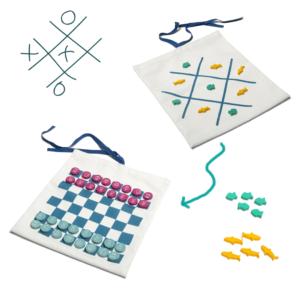 BS TOYS -  Travel Games – 2 σε 1 Σκάκι/Τρίλιζα