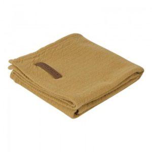 LITTLE DUTCH. Κουβερτάκι αγκαλιάς - ύπνου Pure Ochre 120X120εκ.
