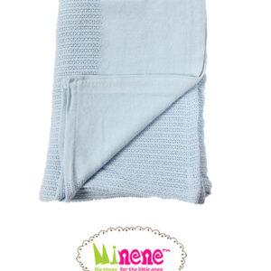 Minene Knitted Blanket Baby Blue