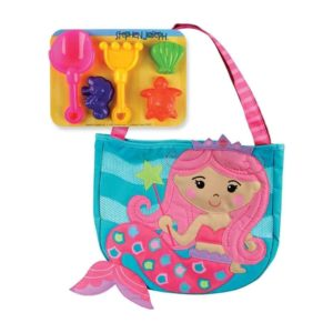 STEPHEN JOSEPH - BEACH TOTE (w/sand toy play set) MERMAID
