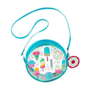 STEPHEN JOSEPH  - Clear/Iridescent Crossbody Purse SWEETS